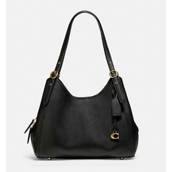 Picture of Coach Leather Lori Shoulder Bag - Brass/Black