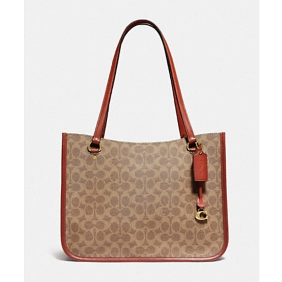 Picture of Coach Signature Tyler Carryall - Brass/Tan/Rust