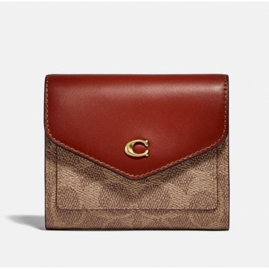 Picture of Coach Signature Wyn Small Wallet - Brass/Tan/Rust