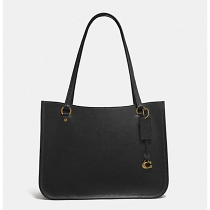 Picture of Coach Leather Tyler Carryall - Brass/Black