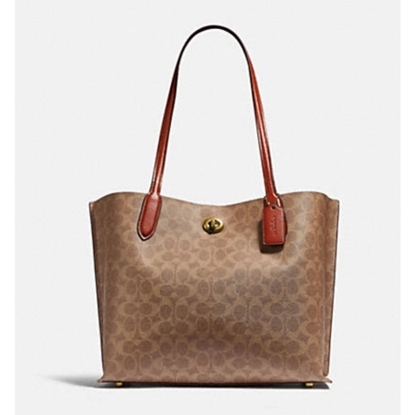 Picture of Coach Willow Tote - Brass/Tan/Rust