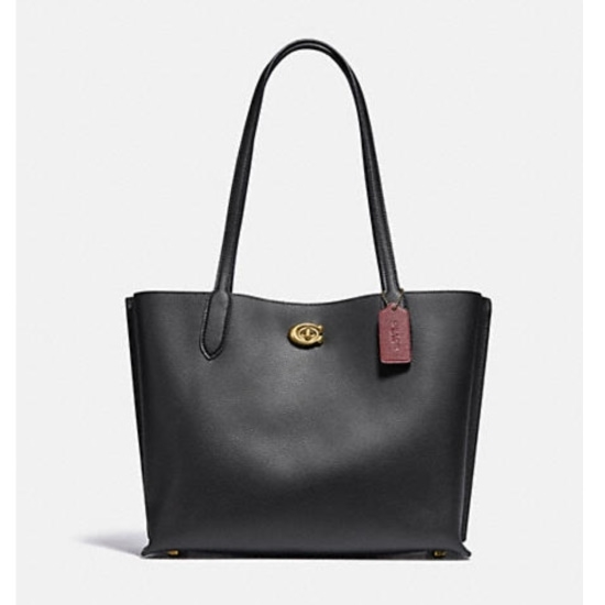 Picture of Coach Willow Tote - Brass/Black