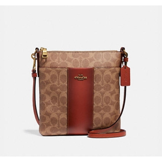 Picture of Coach Signature Swing Pack - Tan/Rust/Brass