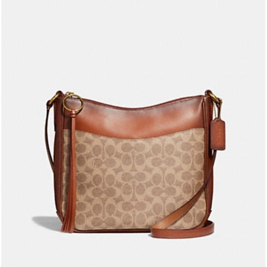 Picture of Coach Signature Chaise Crossbody - Tan/Rust