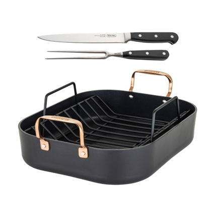 Picture of Viking 16x13 Hard Anondized Roaster with Carving Set