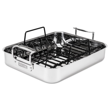 Picture of Viking 16'' 3-Ply Roasting Pan with Non-Stick Rack