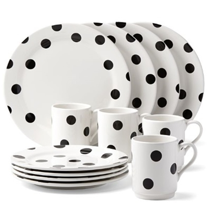Picture of Kate Spade All in Good Taste Deco Dot 12-Piece Dinnerware Set