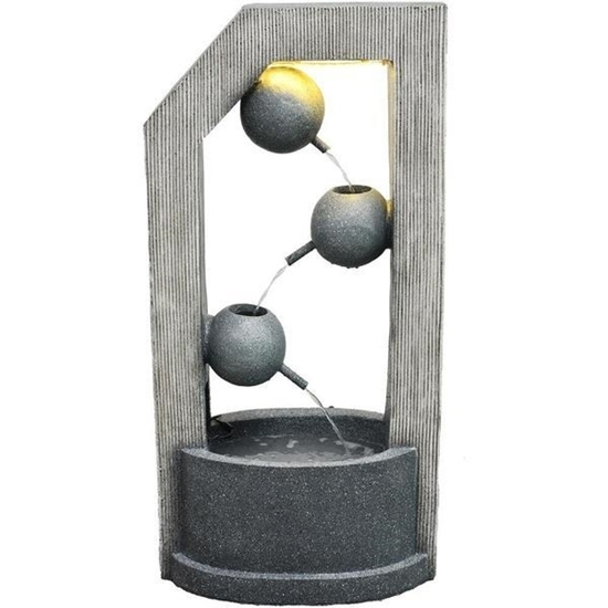 Picture of Hanover 40-Inch 3-Tier Modern Art Garden Fountain with LED Lights