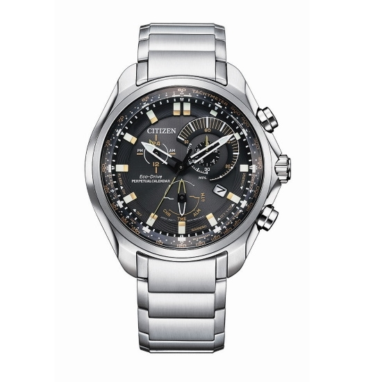 Picture of Citizen Men's Sport Chrono Steel Watch with Black Dial