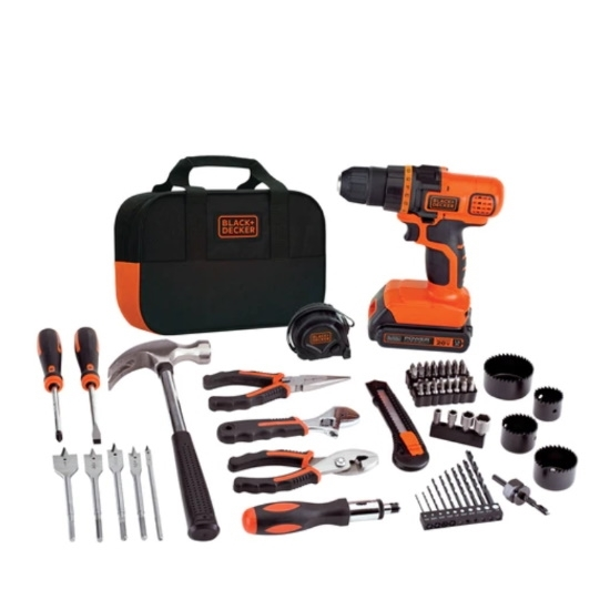 Picture of Black & Decker 68-Piece Project Kit - 20V Drill/Driver
