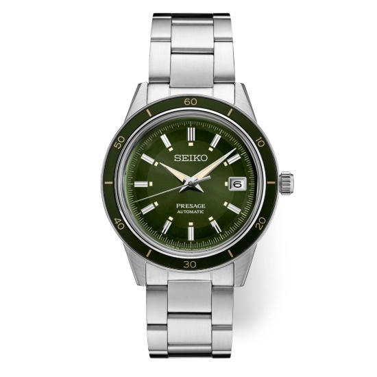 Picture of Seiko Men's Presage Stainless Steel Watch with Green Dial