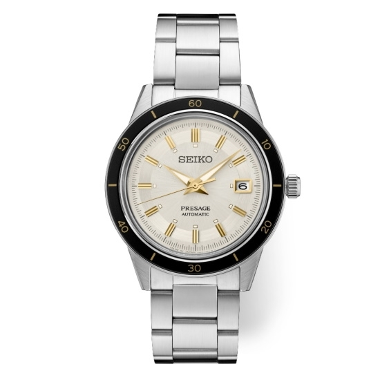 Picture of Seiko Men's Presage Stainless Steel Watch with Cream Dial