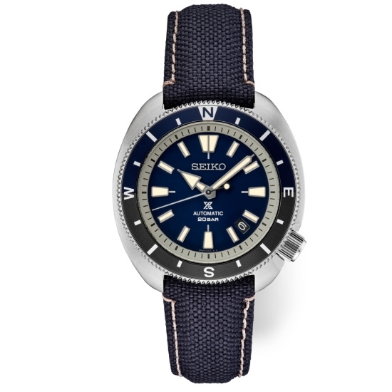 Picture of Seiko Prospex Watch with Blue Dial & Black Nylon Strap