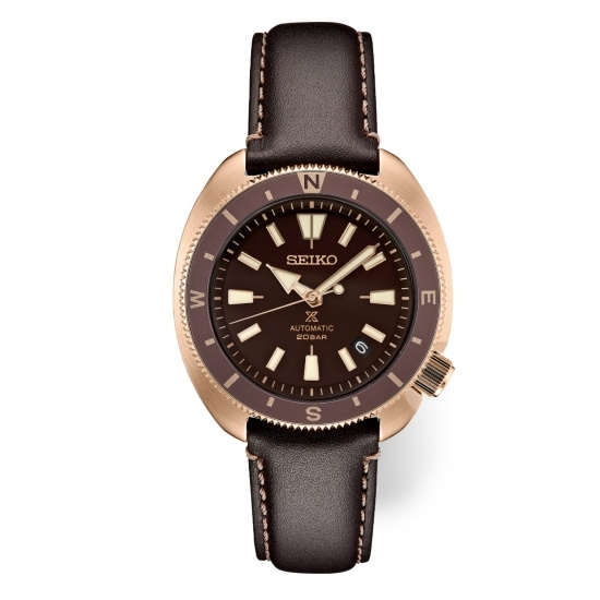 Picture of Seiko Prospex Watch with Brown Dial & Brown Leather Strap