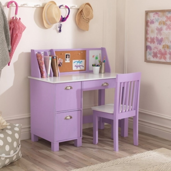 Picture of KidKraft Study Desk with Chair - Lavender