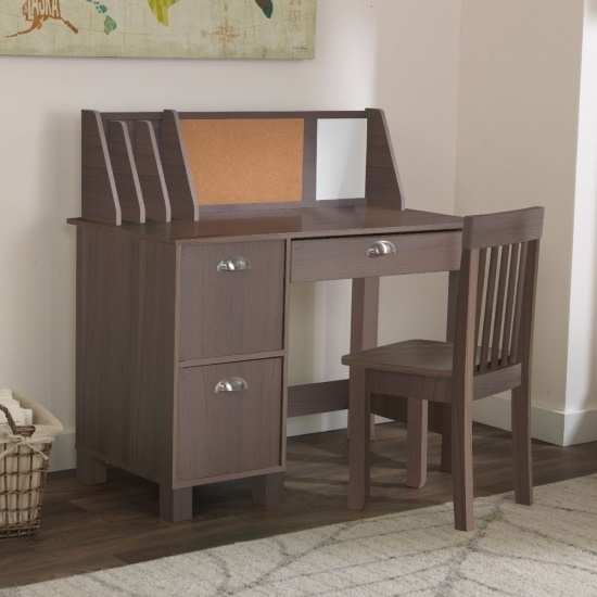 Picture of KidKraft Study Desk with Chair - Rustic Gray
