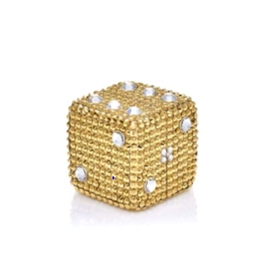 Picture of Judith Leiber Dice Pillbox - Champagne