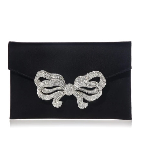 Picture of Judith Leiber Bow Envelope - Silver Black