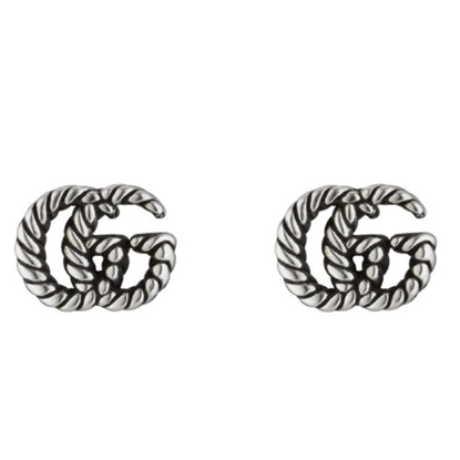 Picture of Gucci Aged Sterling Earrings with Double G Motif