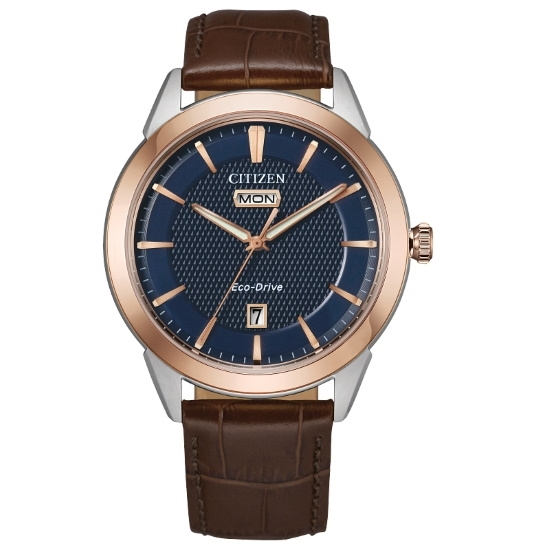 Picture of Citizen Eco-Drive Corso Men's Brown Leather Strap Watch