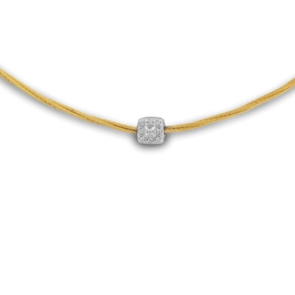 Picture of ALOR Yellow Micro Cable Necklace