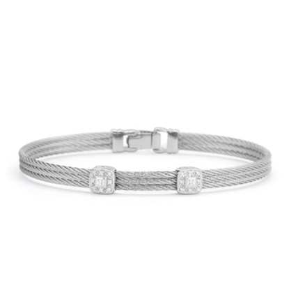 Picture of ALOR Grey Cable Classic Stackable Bracelet