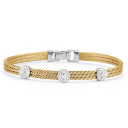 Picture of ALOR Yellow Cable Classic Stackable Bracelet