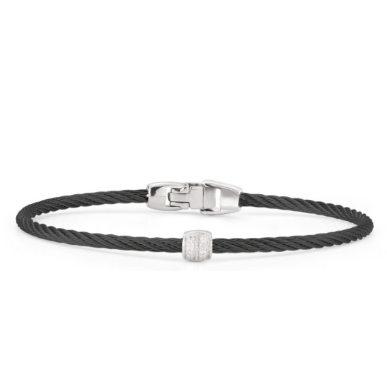 Picture of ALOR Black Cable Single Station Stackable Bracelet