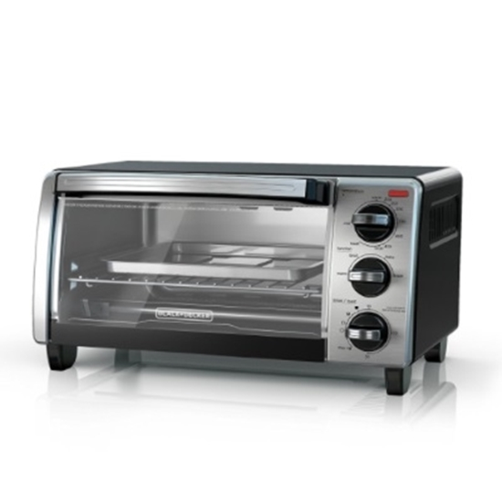 Picture of Black & Decker 4-Slice Natural Black Convection Toaster Oven