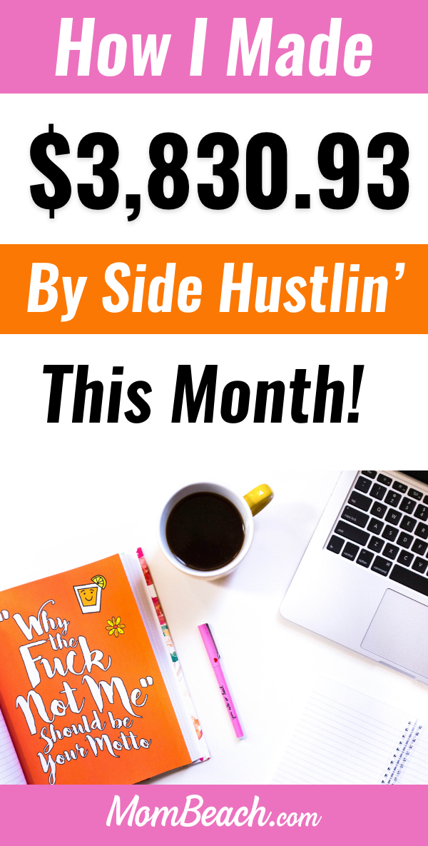 Blog income reports help other bloggers find out what works and what doesn't. In this blog income report, I spill how my blog and other side hustles did this month in April 2019! #blogging #blogincomereport #blogincome #makemoneyblogging #makemoney #blogging #blogreport #bloggingformoney #moneyonline #makemoneyonline #onlineincome #extracash #onlineearning #sidehustle #workfromhome
