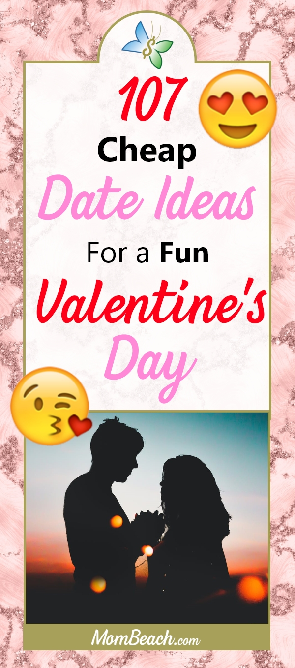 Check out this massive list of cheap date ideas for a fun Valentine's Day. You don't need lots of money to have a great date night. Save your money and enjoy your time together. #cheapdateideas #cheapdates #dates #valentinesdates #cheapvalentinesdates #valentinesday #cheapdates #savemoney #lowcostdates #dating #datenight #cheapdatenight #budgetdate #budgeting