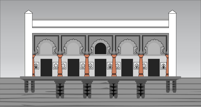 Balusters on a Baradari Porch