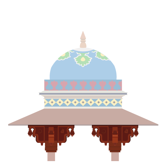 Corbel Brackets on a chhatri