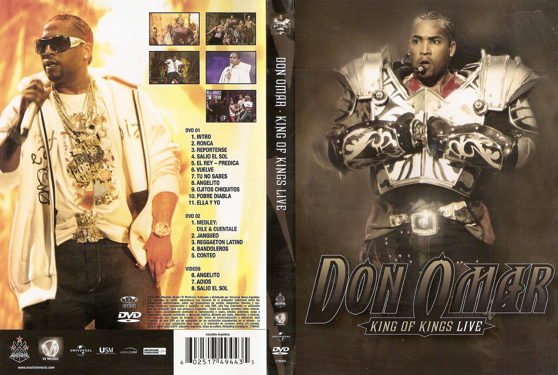 DON OMAR - KING OF KINGS LIVE DVD X 2 - DVD x 2