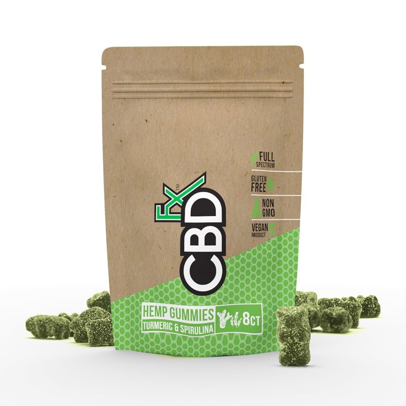 CBDfx Gummies with Turmeric & Spirulina – 8ct Pouch CBD FX