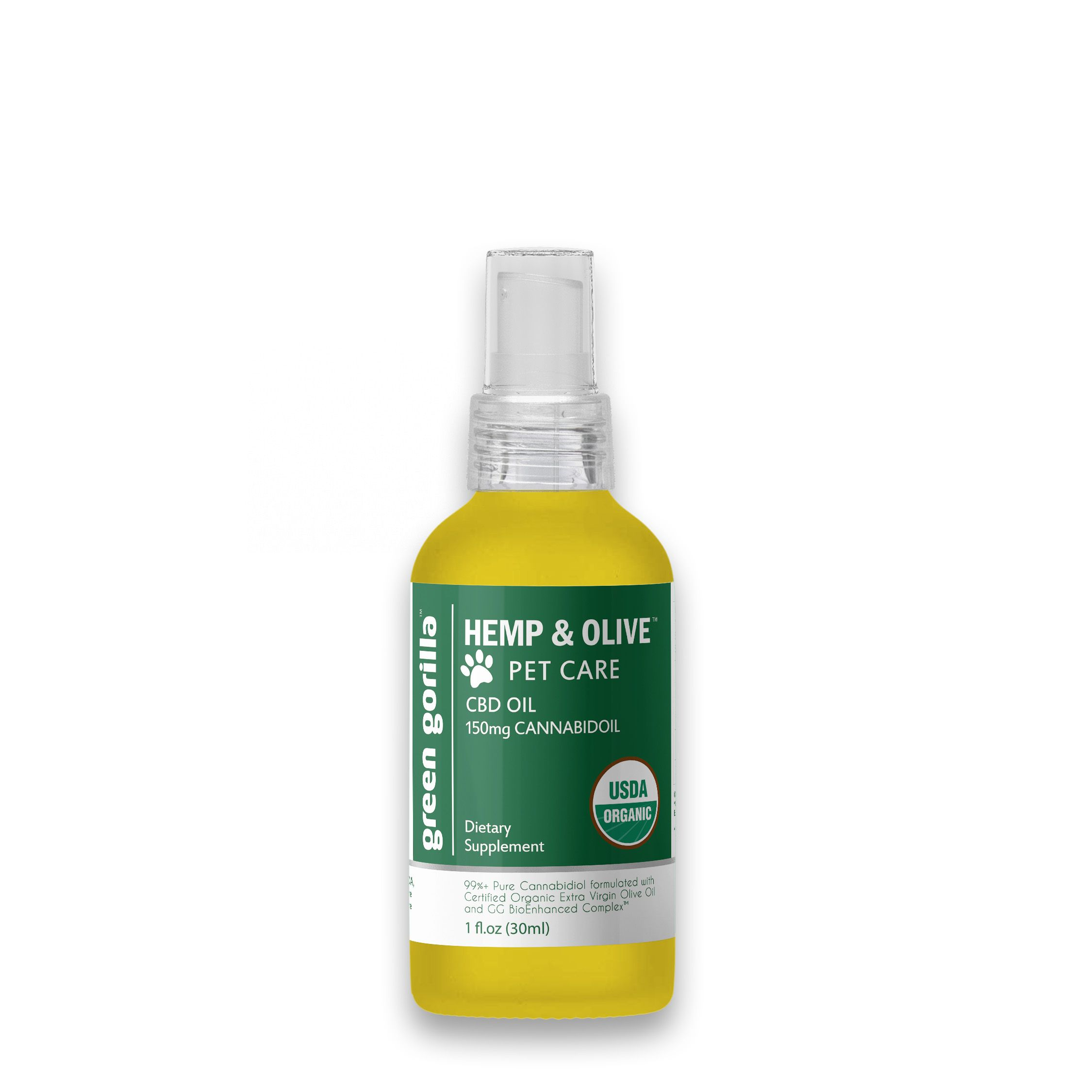 CBD Oil For Pets 150 mg Green Gorilla