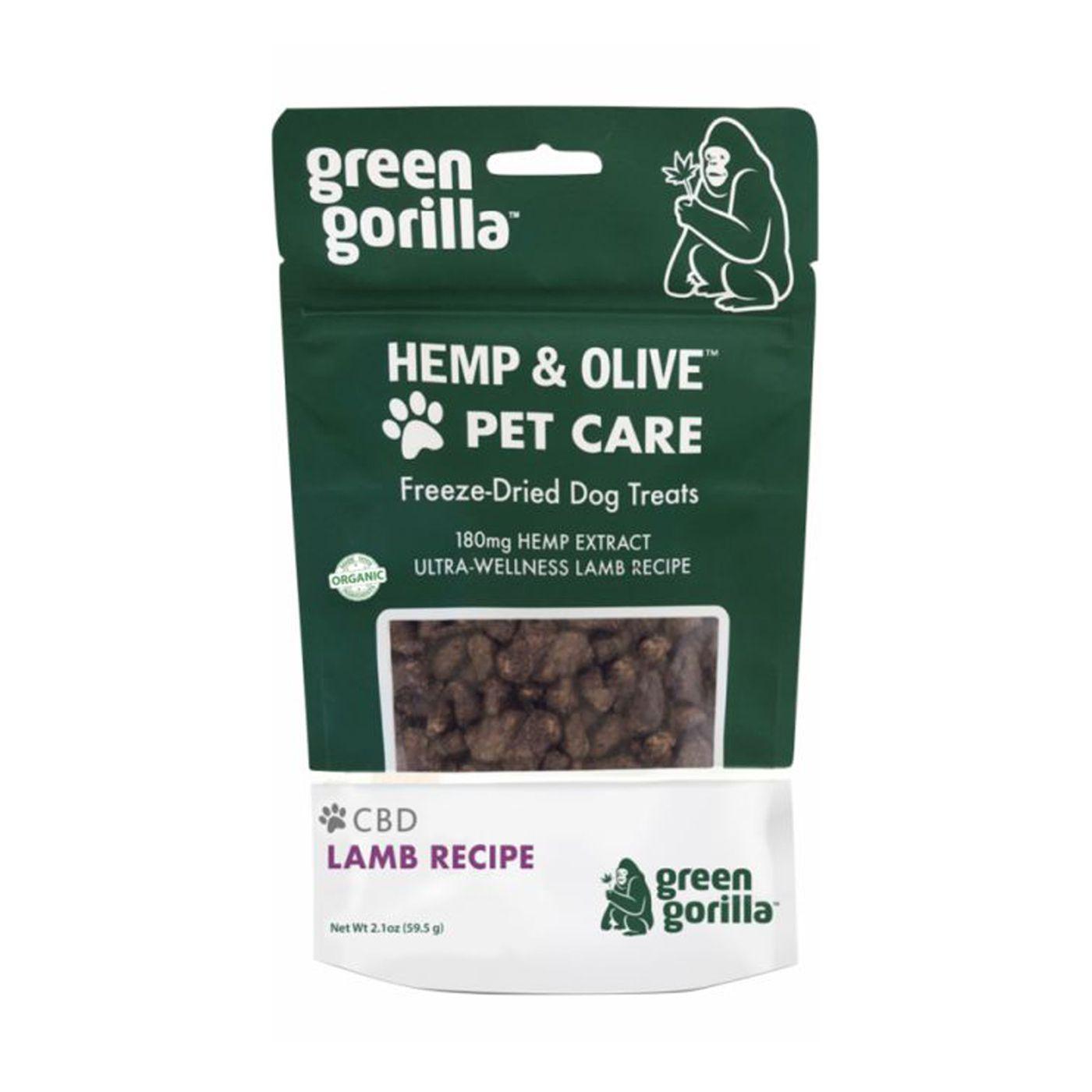 Freeze-Dried CBD Dog Treats 180 mg Green Gorilla