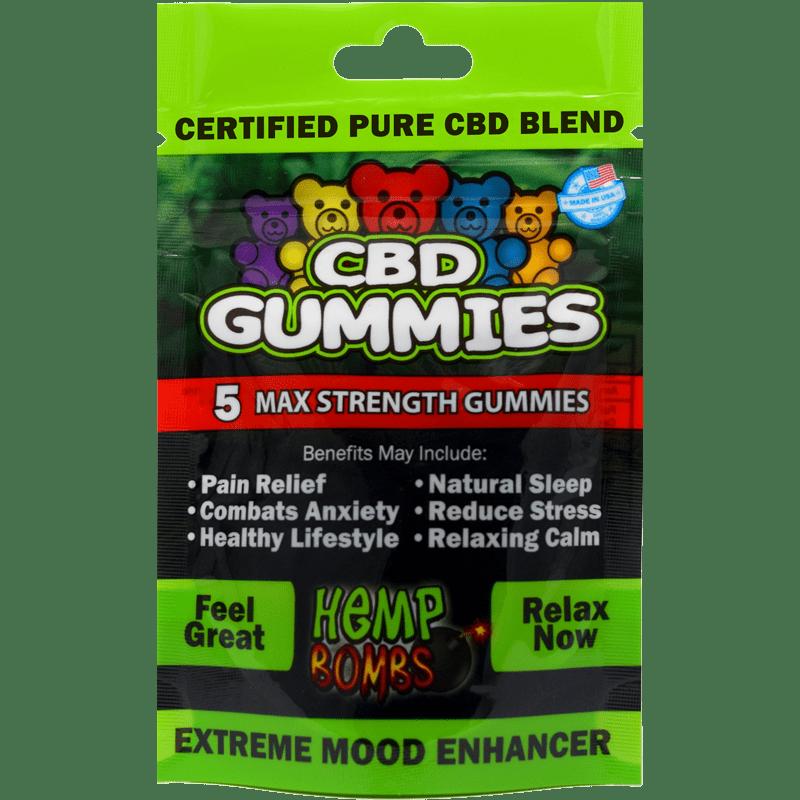 5-Count CBD Gummies Hemp Bombs
