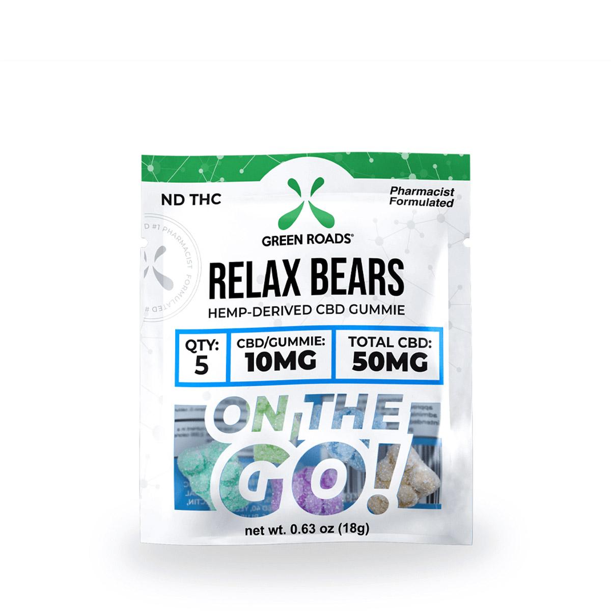 CBD Relax Bears OTG – 50 MG Green Roads CBD
