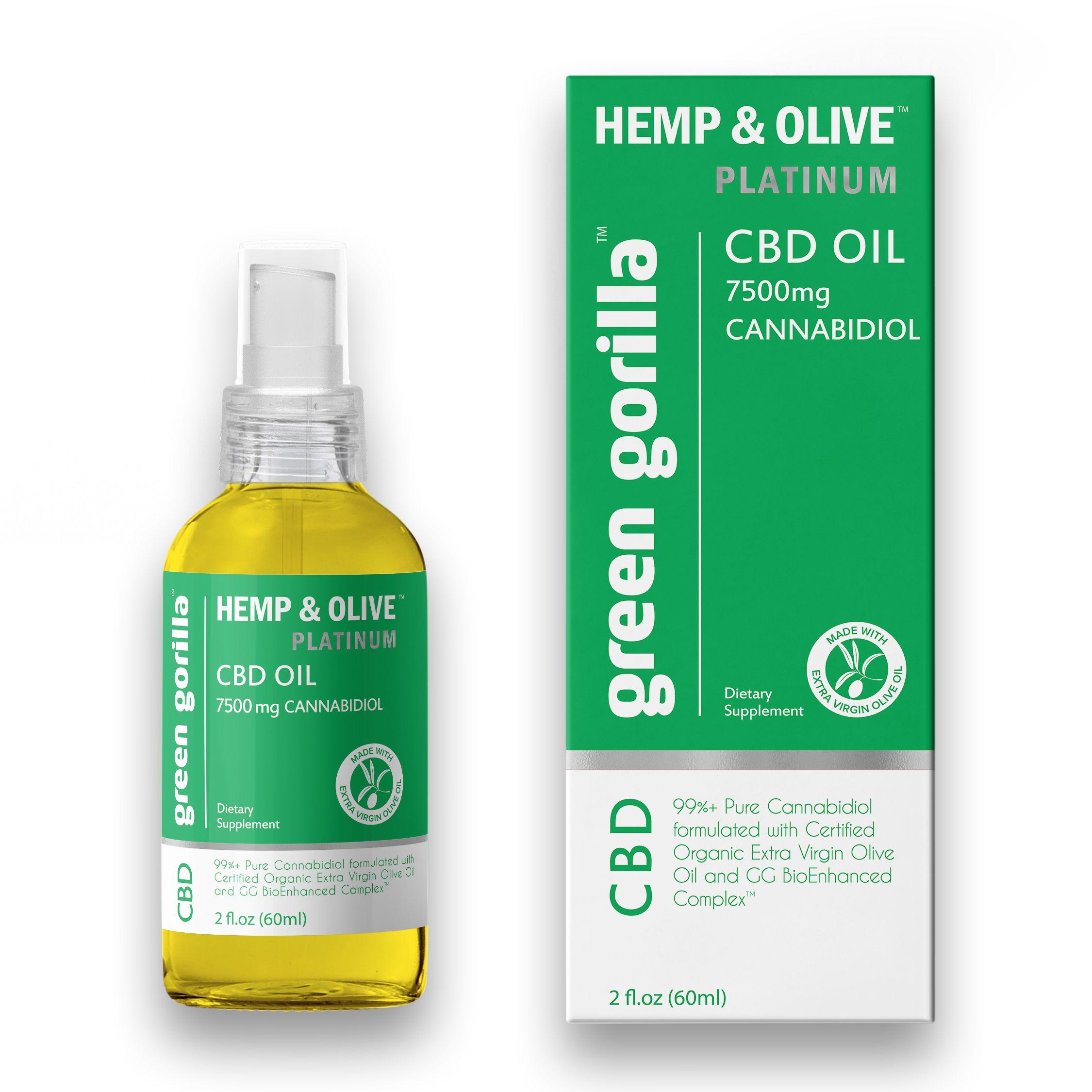 Pure CBD Oil 7500 mg Green Gorilla