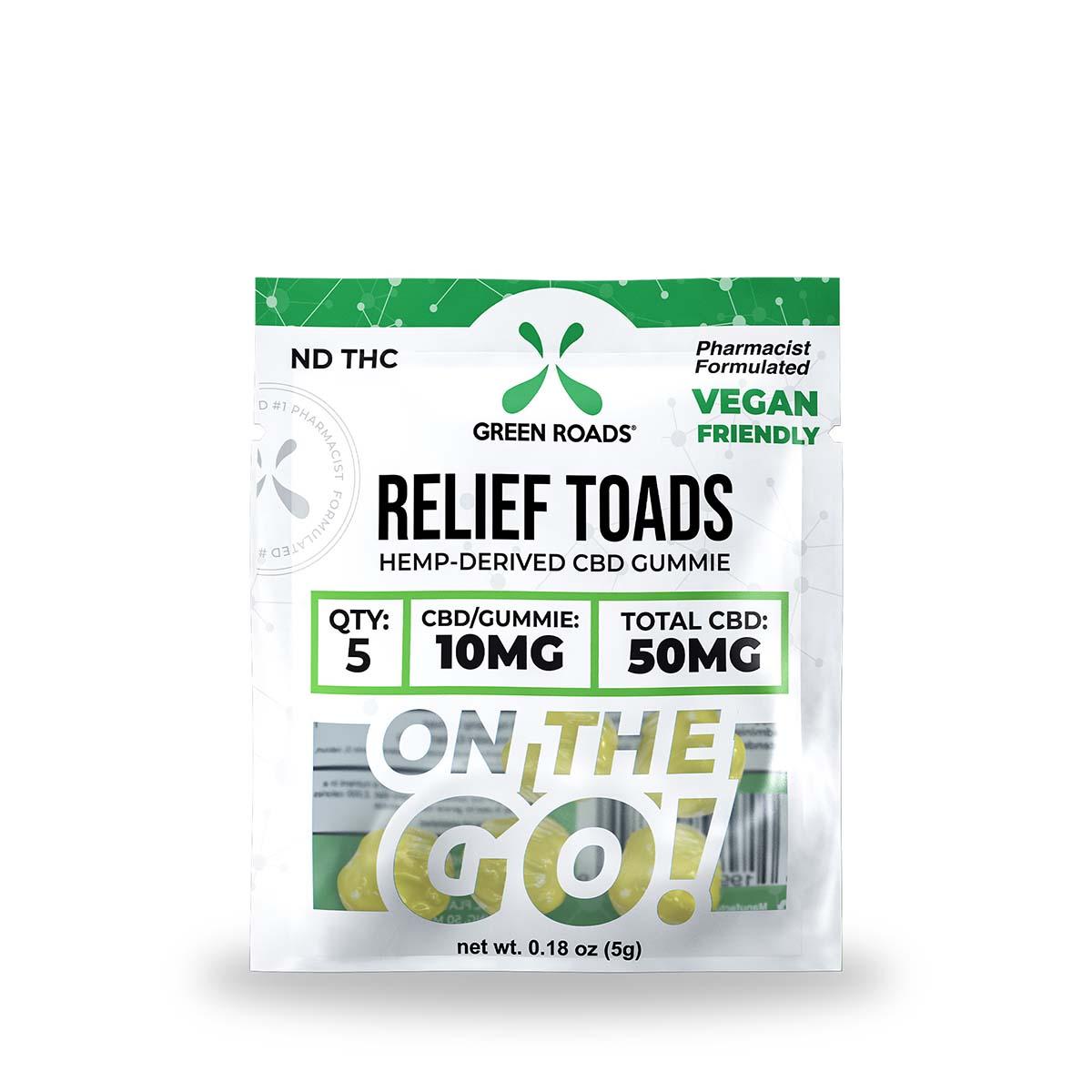 CBD Relief Toads OTG – 50 MG Green Roads CBD