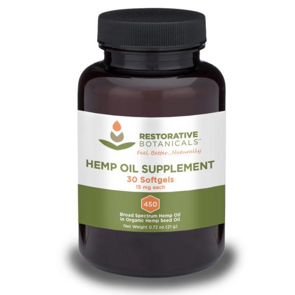 Restorative Botanicals Hemp Oil Supplement Softgels Restorative Botanicals