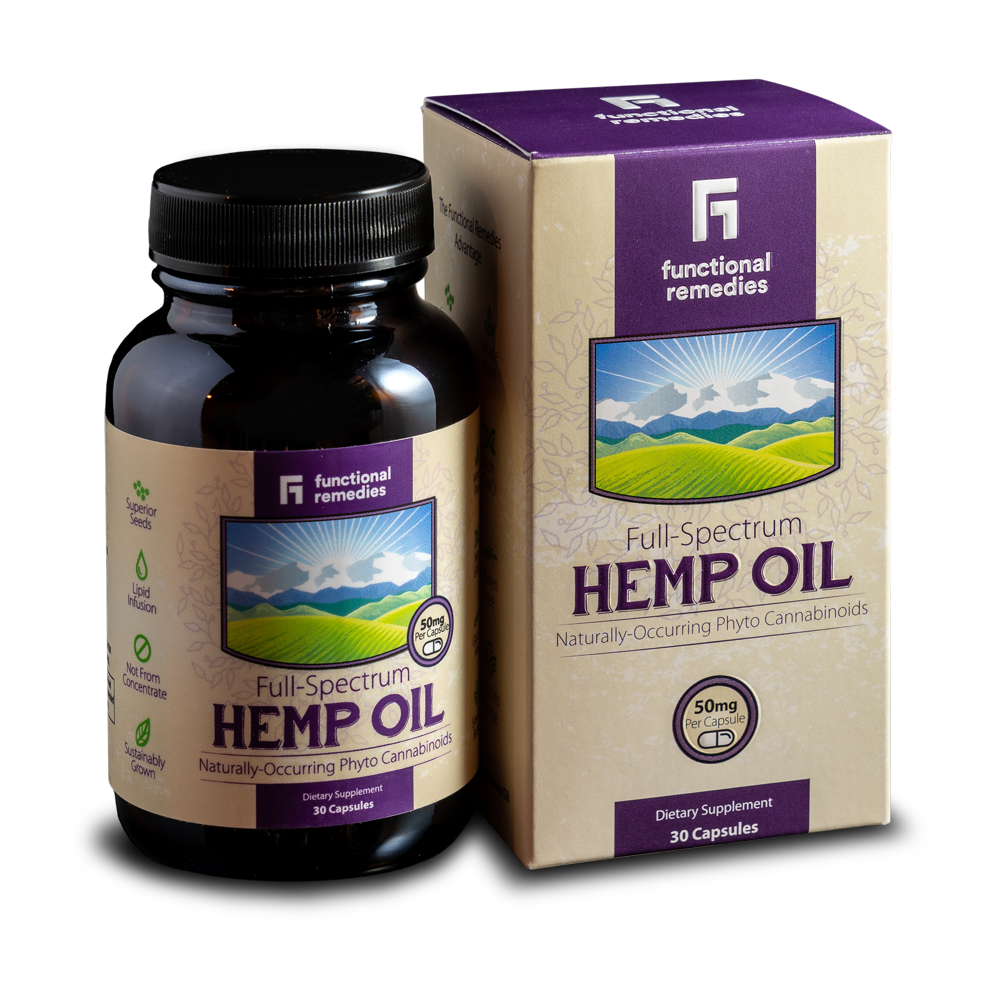 FUNCTIONAL REMEDIES HEMP CAPSULES 50MG Synchronicity
