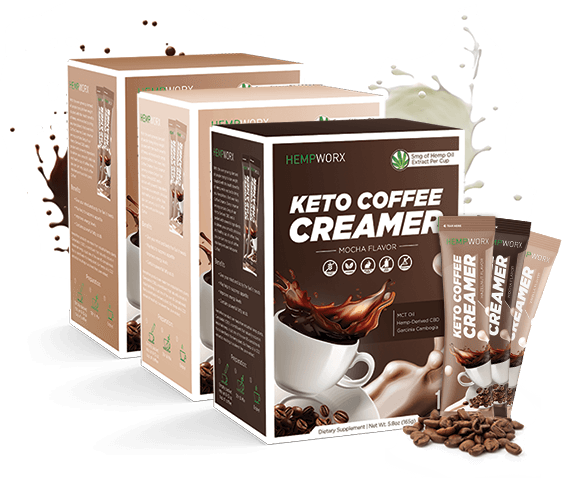 CBD Keto Coffee Creamers HempWorx