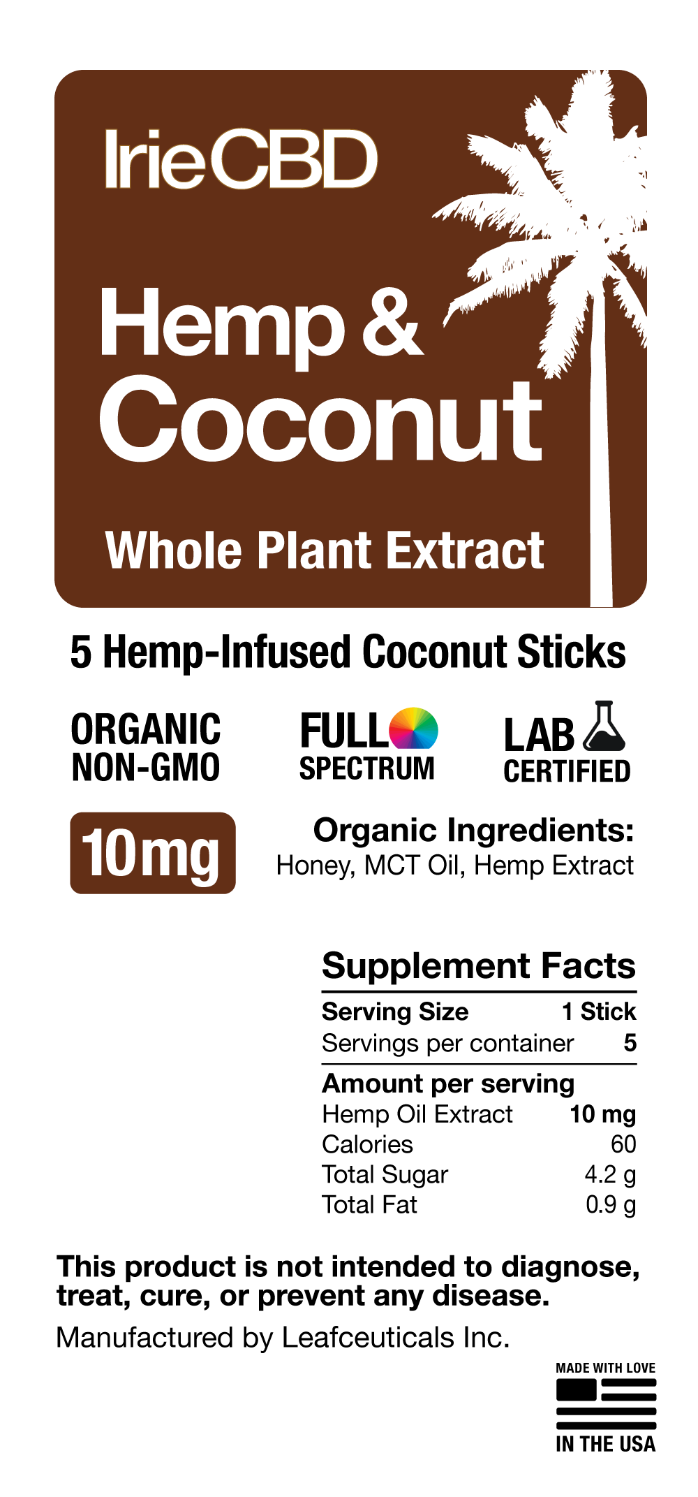 CBD Oil Coconut Sticks Irie CBD