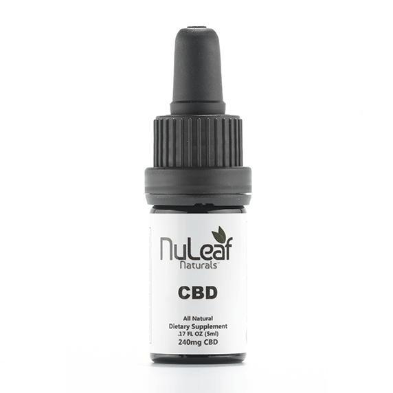 240mg Full Spectrum CBD Oil, High Grade Hemp Extract (50mg/ml) NuLeaf Naturals
