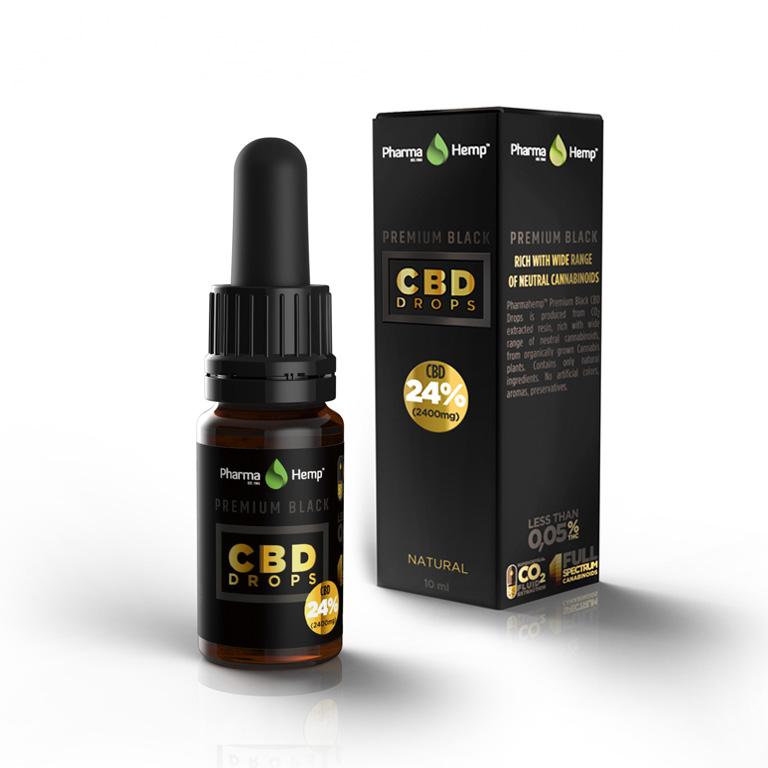 PREMIUM BLACK CBD DROPS PharmaHemp