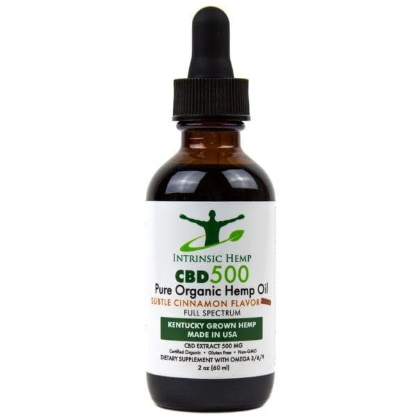 CBD Oil – 500 MG Cinnamon Intrinsic Hemp