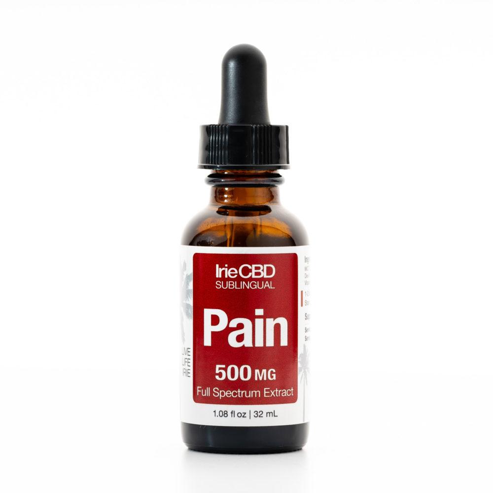 Pain 500mg CBD Oil Tincture Irie CBD