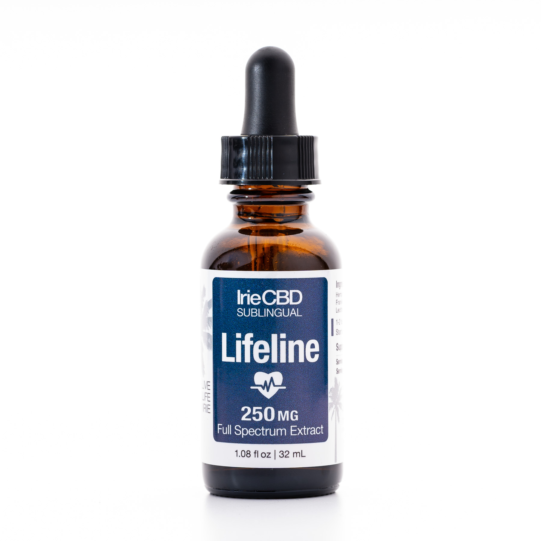 Lifeline 250mg CBD Oil Tincture Irie CBD